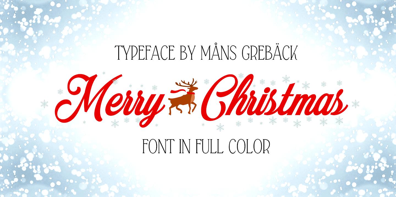 Merry Christmas Color font by Måns Grebäck - FontSpace