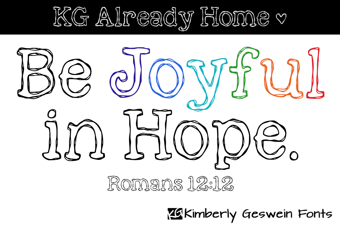 Image Gallery For Kg Already Home Font Fontspace