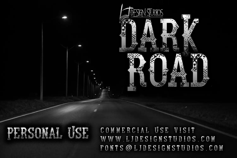 Dark Road font by LJ Design Studios - FontSpace