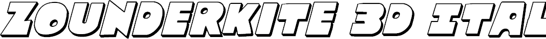 Preview image for Zounderkite 3D Italic