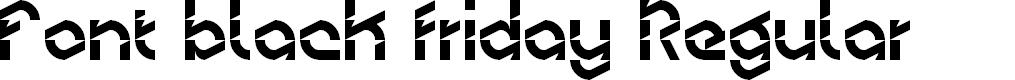 Preview image for Font black friday Regular