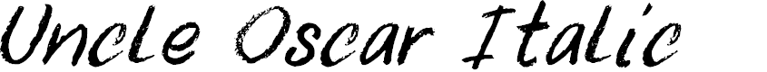 Preview image for DK Uncle Oscar Italic