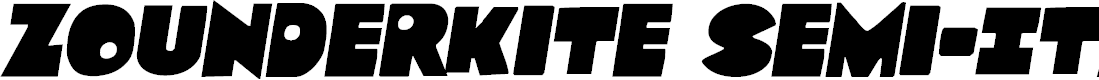 Preview image for Zounderkite Semi-Italic