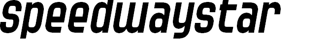 Preview image for SF Speedwaystar Italic
