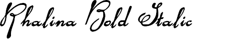 Preview image for Rhalina Bold Italic