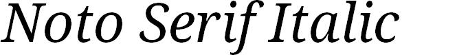 Preview image for Noto Serif Italic