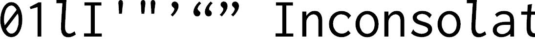 Preview image for Inconsolata zi4[varl,varqu] Regular