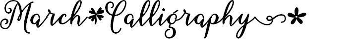 Preview image for March Calligraphy