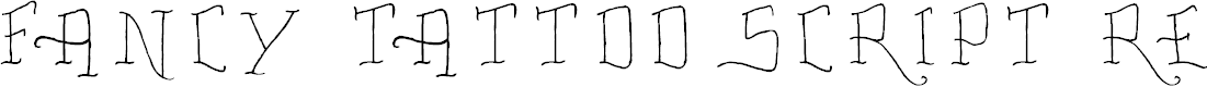 Preview image for Fancy Tattoo Script Regular