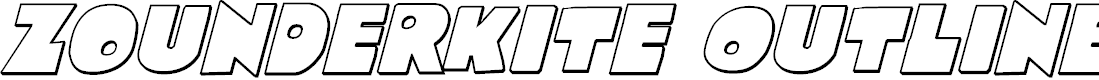 Preview image for Zounderkite Outline Italic