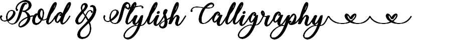 Preview image for Bold & Stylish Calligraphy