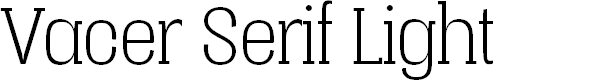 Preview image for Vacer Serif Personal Light