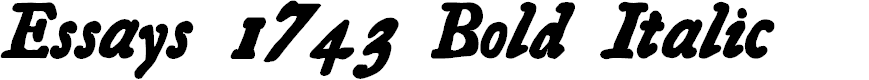 Preview image for Essays 1743 Bold Italic