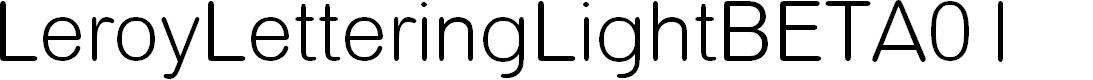 Preview image for LeroyLetteringLightBETA01