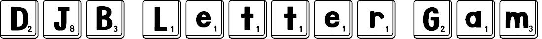 Preview image for DJB Letter Game Tiles