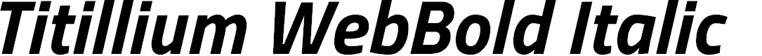Preview image for Titillium WebBold Italic