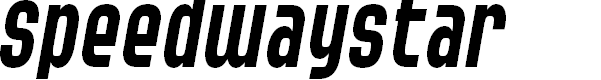 Preview image for SF Speedwaystar Cond Italic