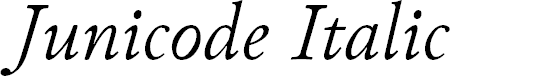 Preview image for Junicode Italic