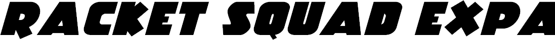 Preview image for Racket Squad Expanded Italic