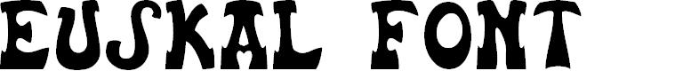 Preview image for Euskal Font Normal