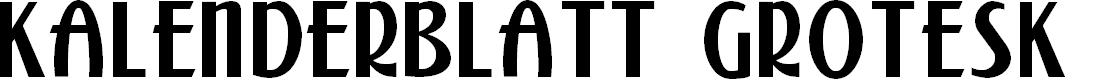 Preview image for Kalenderblatt Grotesk