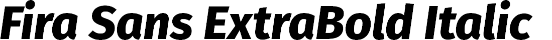 Preview image for Fira Sans ExtraBold Italic