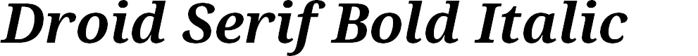 Preview image for Droid Serif Bold Italic