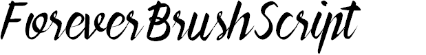 Preview image for ForeverBrushScript