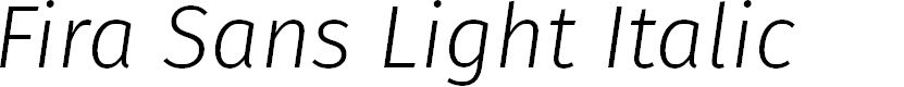 Preview image for Fira Sans Light Italic