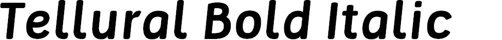 Preview image for Tellural Bold Italic