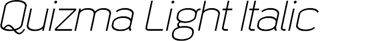 Preview image for Quizma Light Italic Demo