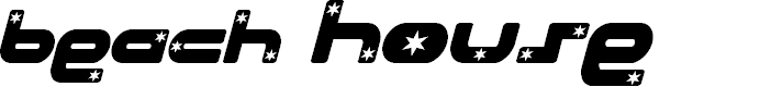 Preview image for Beach House Stars Italic