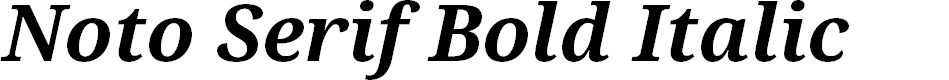 Preview image for Noto Serif Bold Italic