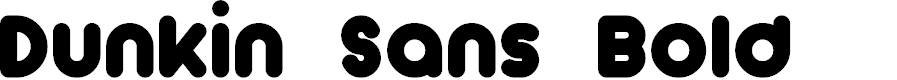Preview image for Dunkin Sans Bold