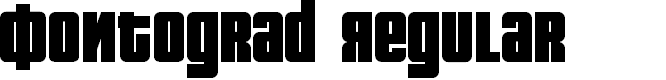 Preview image for Fontograd Regular
