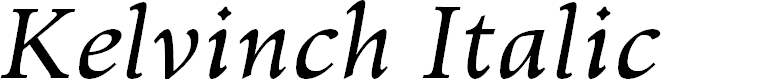 Preview image for Kelvinch Italic