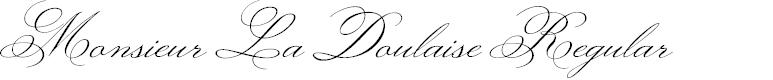 Preview image for Monsieur La Doulaise Regular