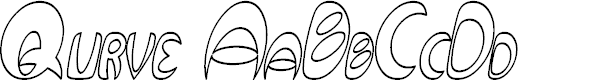 Preview image for Qurve Hollow Thin Italic