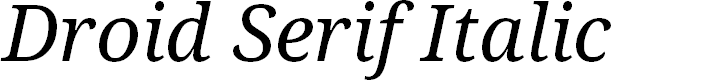 Preview image for Droid Serif Italic
