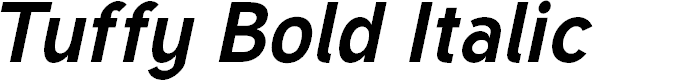 Preview image for Tuffy Bold Italic