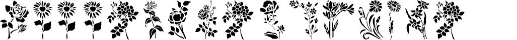 Preview image for HFF Floral Stencil