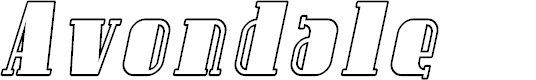Preview image for Avondale Outline Italic
