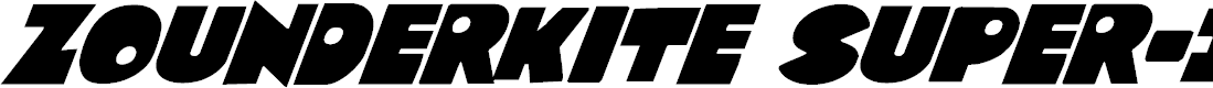 Preview image for Zounderkite Super-Italic