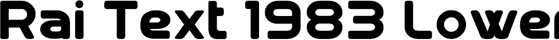 Preview image for Rai Text 1983 Lowercase