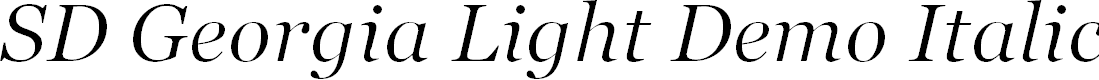 Preview image for SD Georgia Light Demo Italic