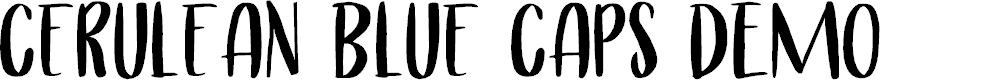 Preview image for Cerulean Blue Caps DEMO Regular