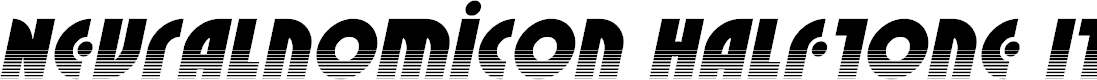 Preview image for Neuralnomicon Halftone Italic