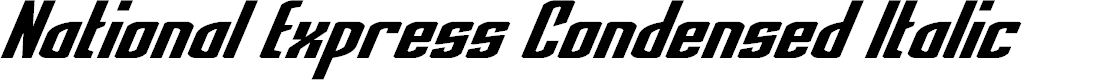 Preview image for National Express Condensed Italic