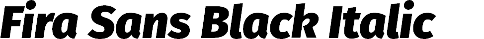 Preview image for Fira Sans Black Italic