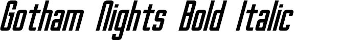 Preview image for Gotham Nights Bold Italic